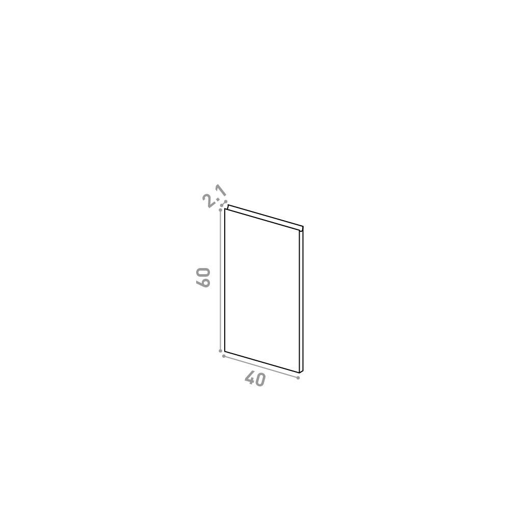 Porte 40X60cm | design U shape | noyer naturel