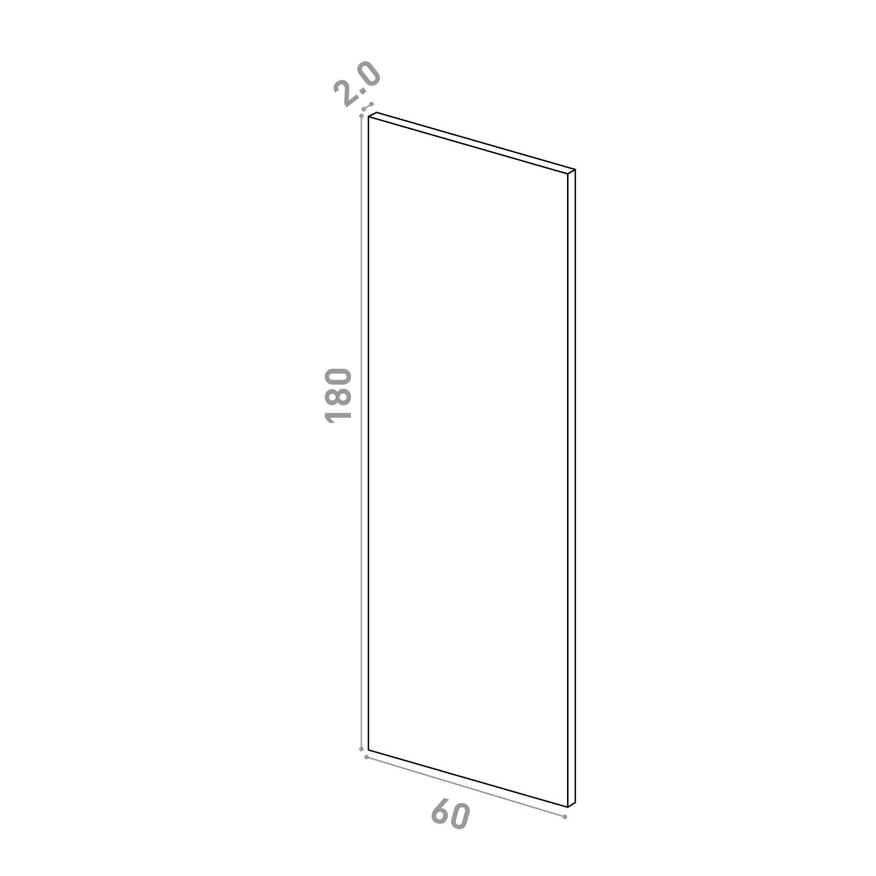 Porte 60X180cm   design lisse   chêne naturel