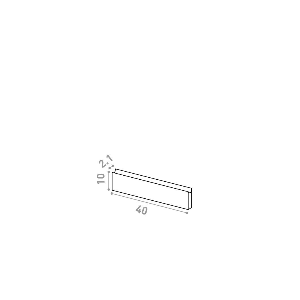 Tiroir 40X10cm | design U shape | noyer naturel