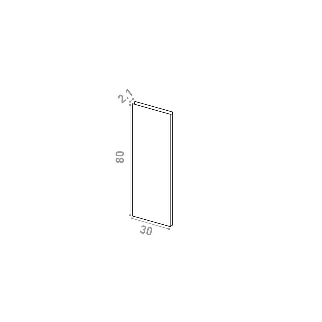 Porte 30X80cm | design U shape | chêne naturel