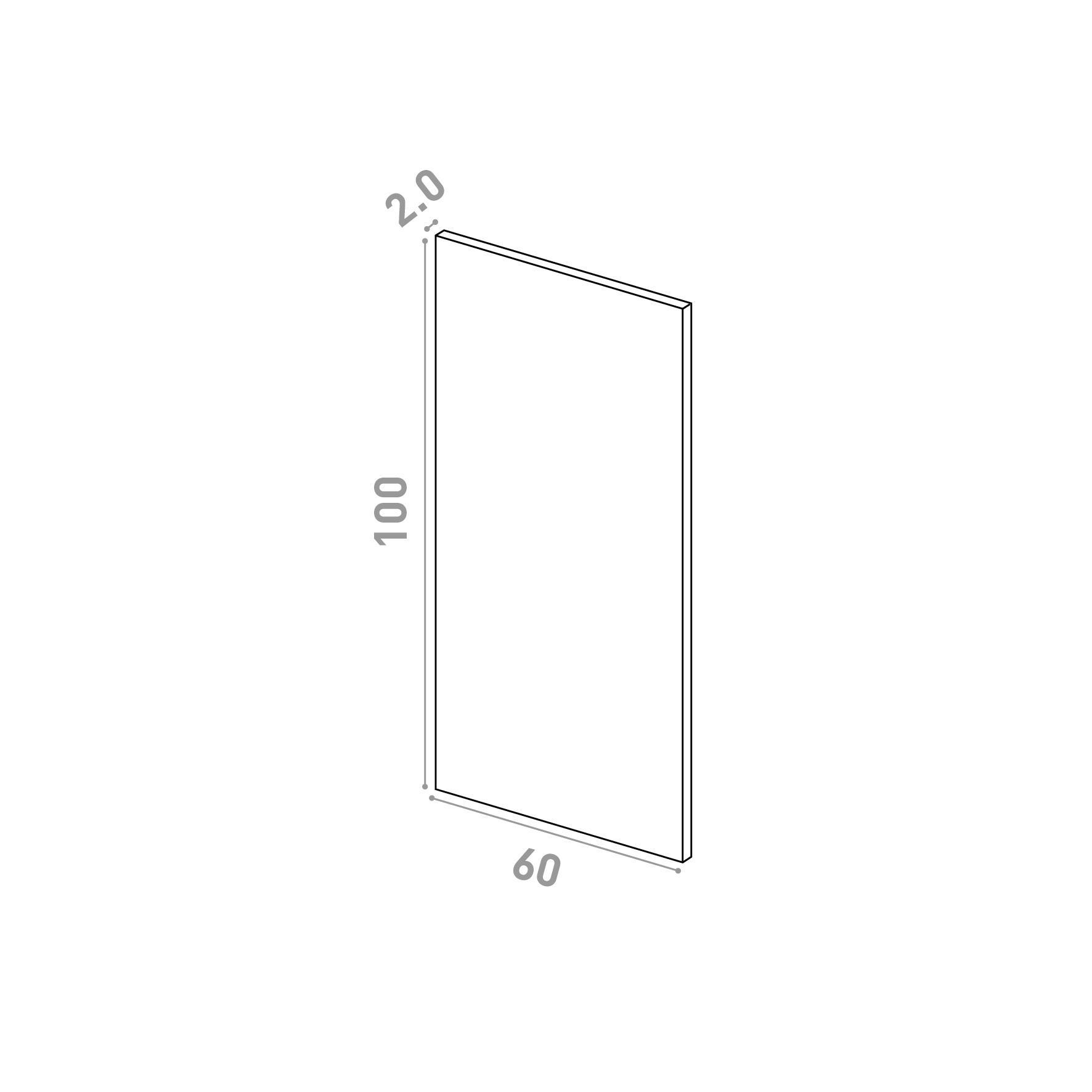 Porte 60X100cm   design lisse   chêne naturel