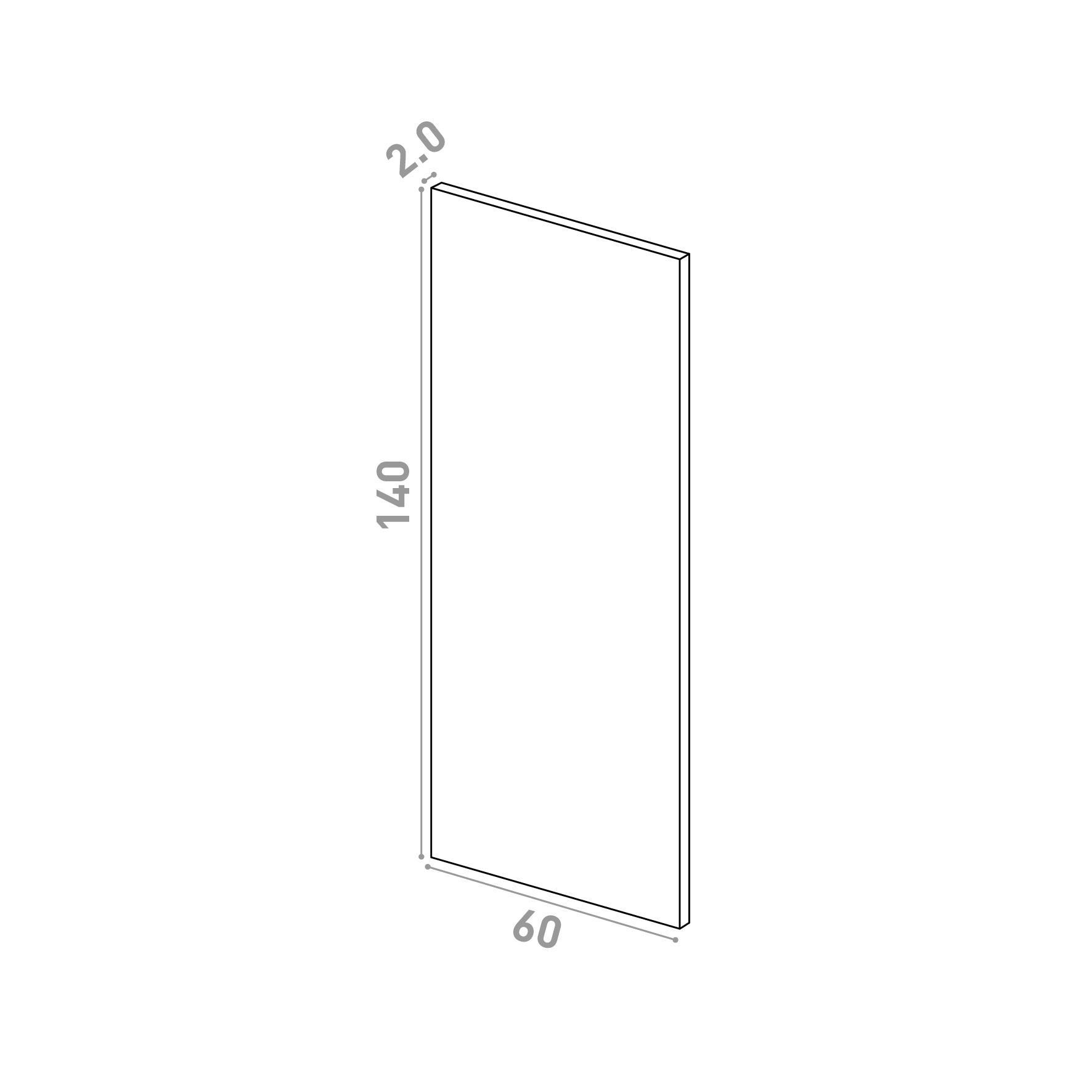 Porte 60X140cm   design lisse   chêne naturel