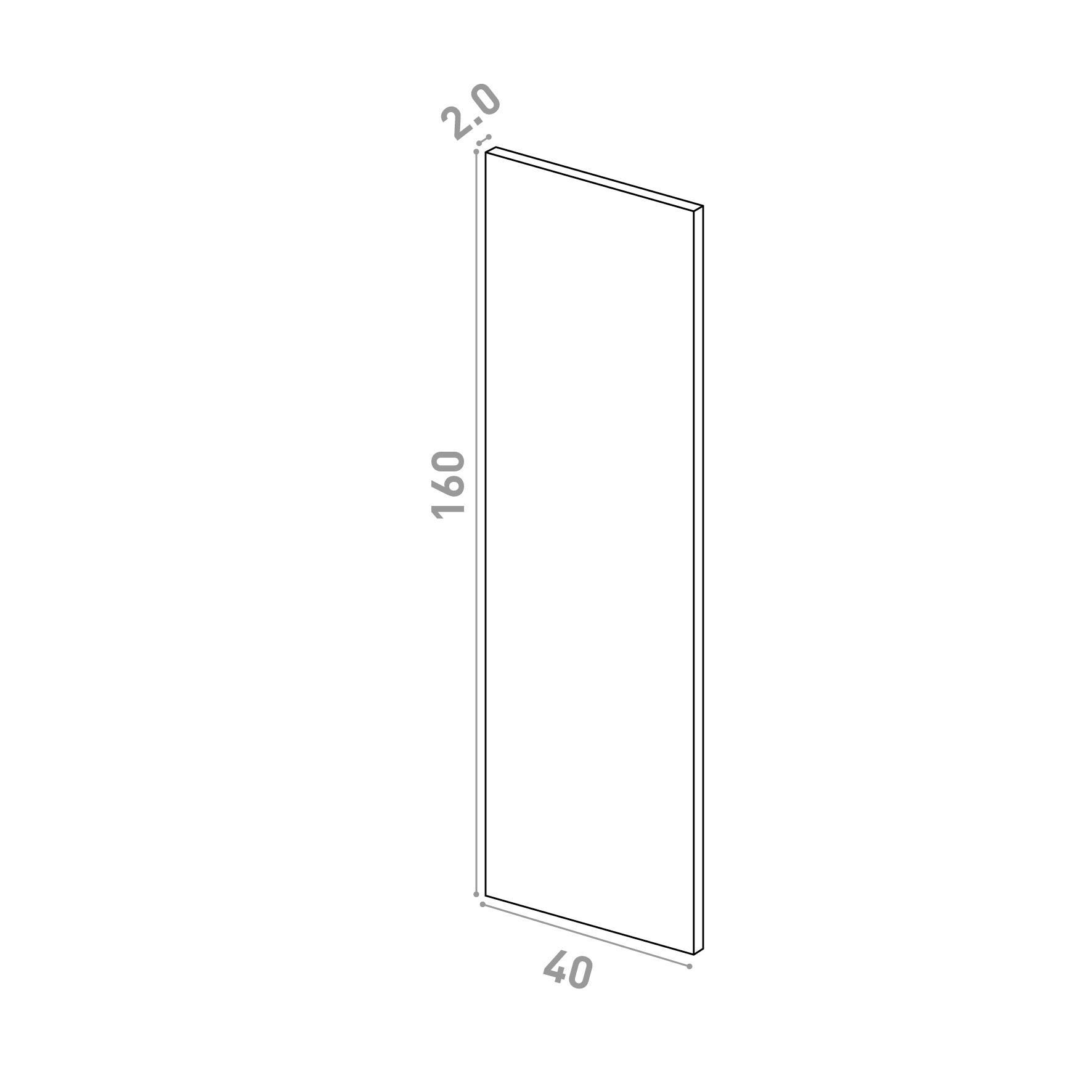 Porte 40x160cm   design lisse   chêne naturel