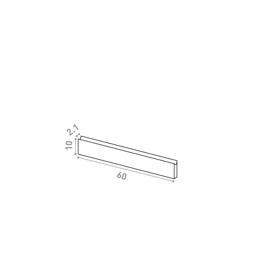 Tiroir 60X10cm | design U shape | chêne naturel