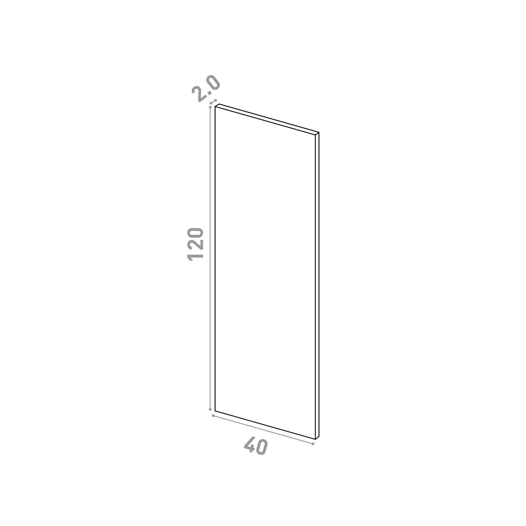 Porte 40X120cm   design lisse   chêne naturel