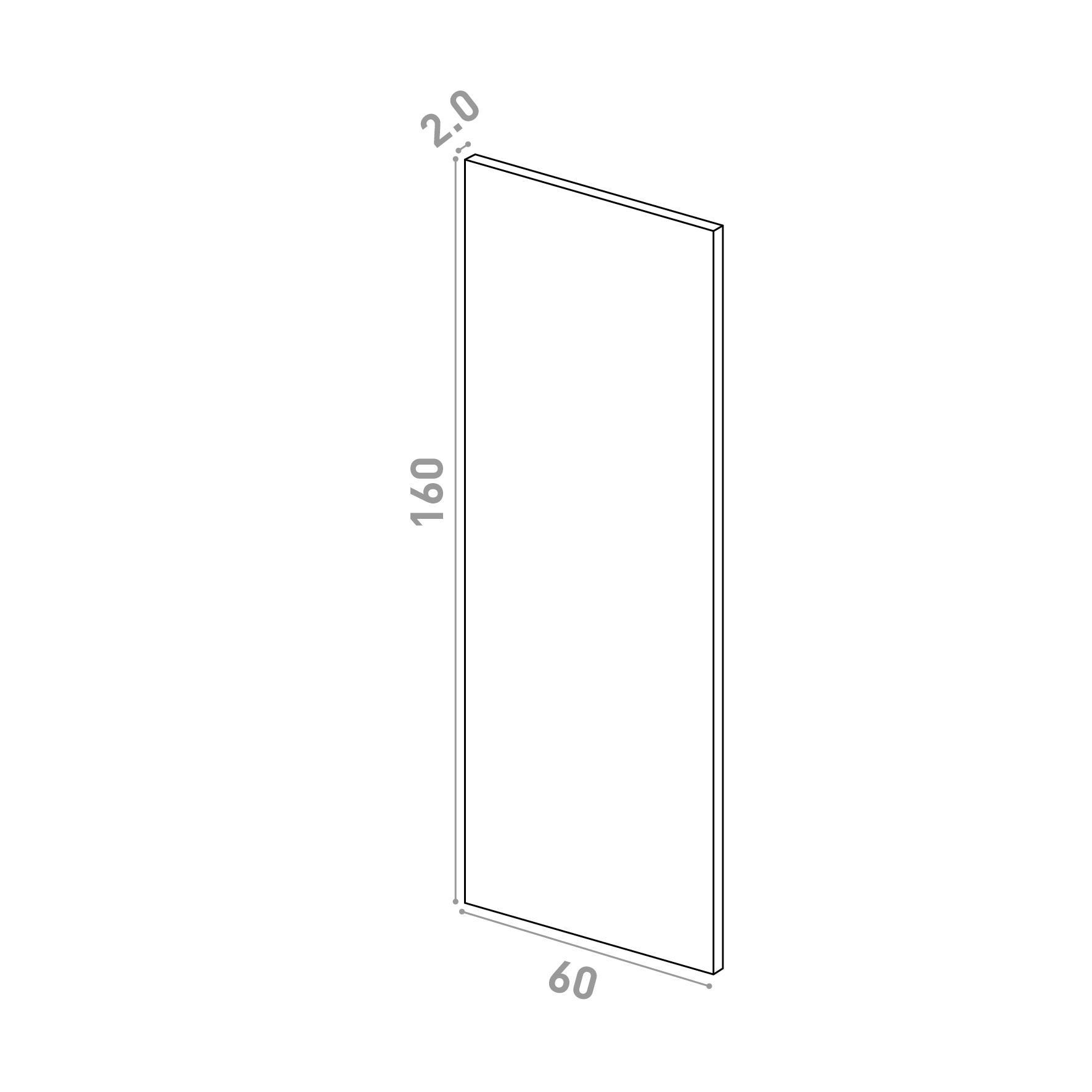 Porte 60X160cm   design lisse   chêne naturel
