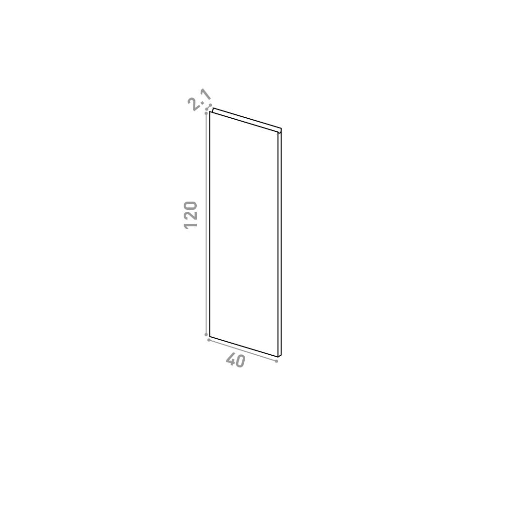 Porte 40X120cm | design U shape | chêne naturel
