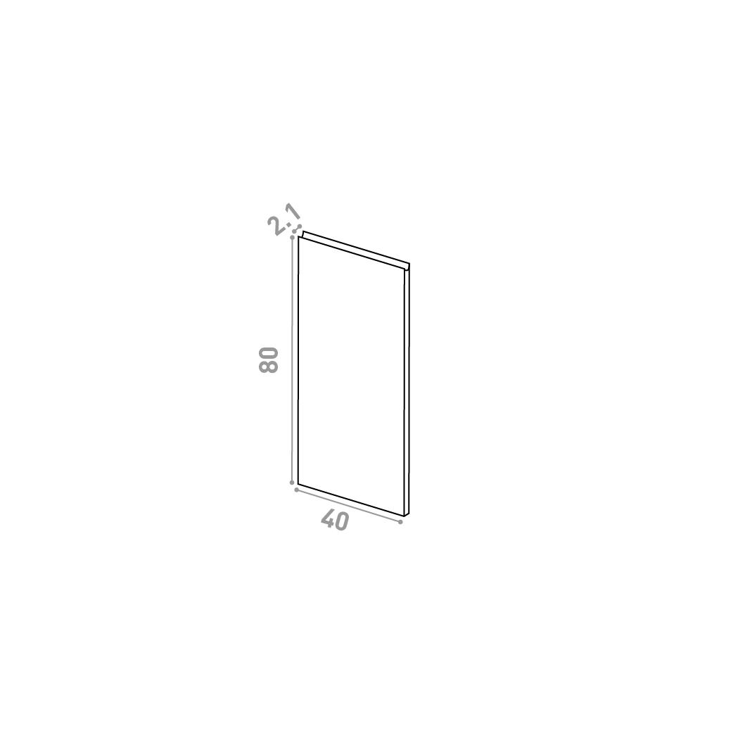 Porte 40X80cm | design U shape | noyer naturel