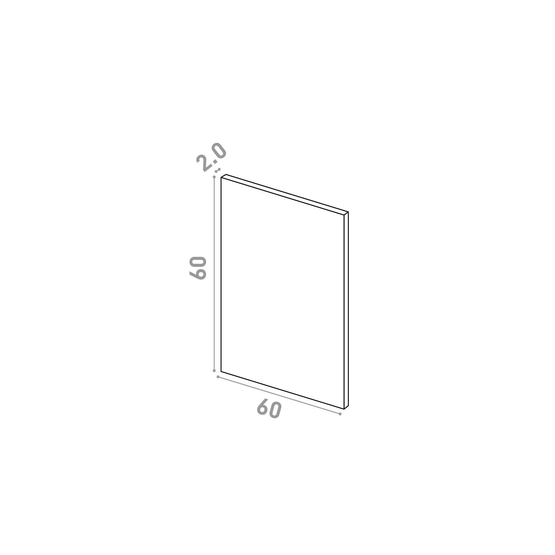 Porte 60X60cm   design lisse   chêne naturel