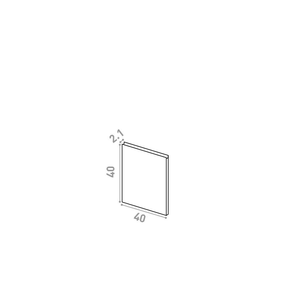 Porte 40X40cm | design U shape | noyer naturel