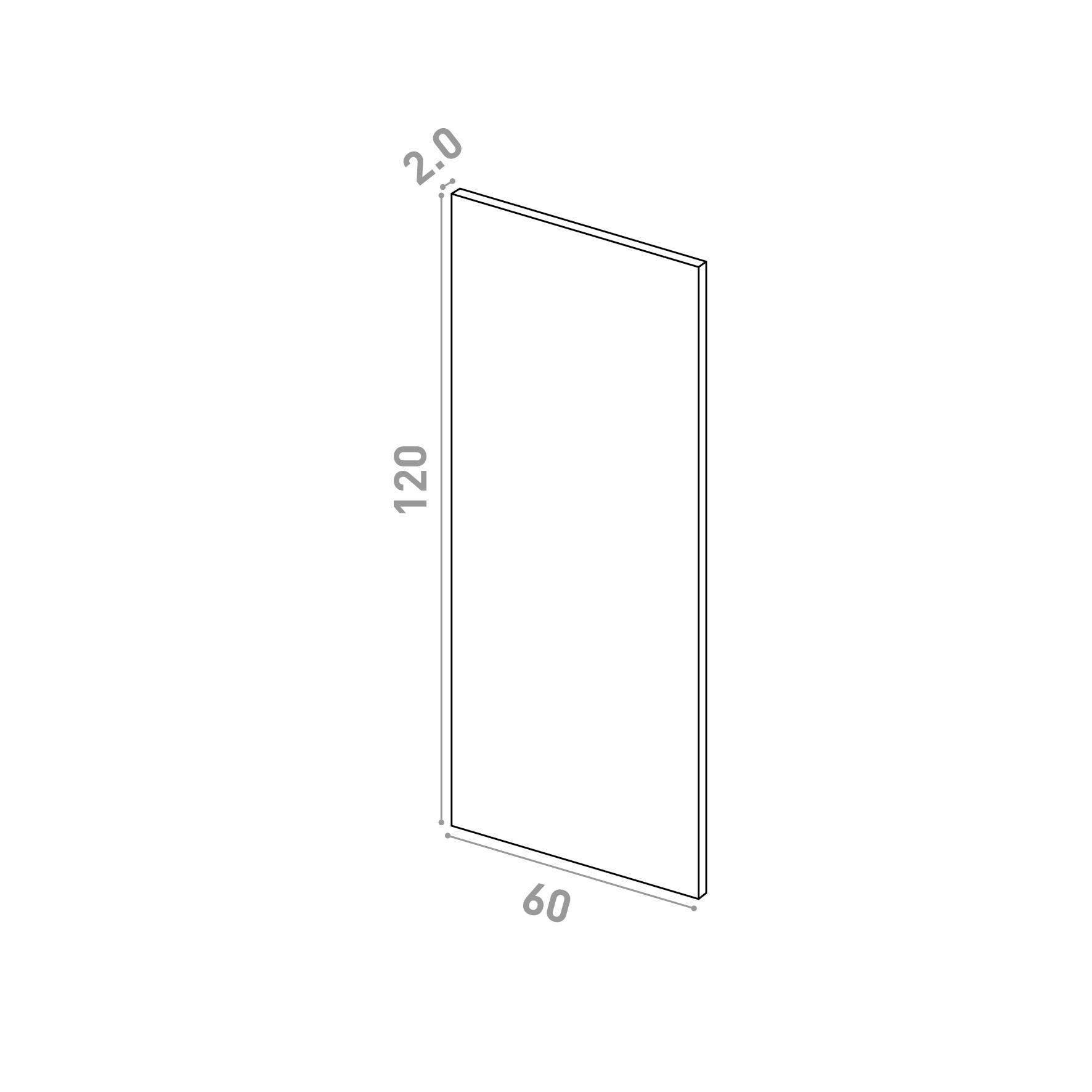 Porte 60X120cm   design lisse   chêne naturel