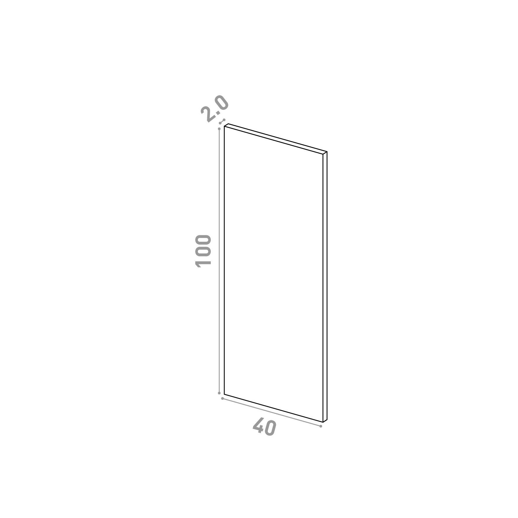 Porte 40X100cm   design lisse   chêne naturel